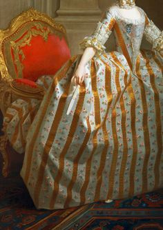 Portrait of Maria Luisa of Parma (1751–1819), Later Queen of Spain, 1765. Detail.