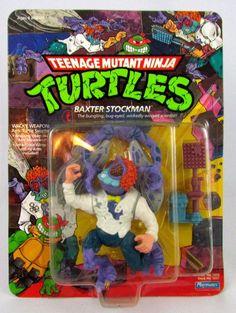 Vtg 1989 TMNT Teenage Mutant Ninja Turtles BAXTER STOCKMAN MOSC Sealed Figure #PlaymatesToys