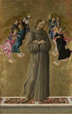 Sandro Botticelli - Heiliger Franziskus mit Engeln