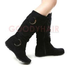 faux suede flat boots
