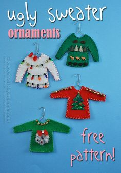 Ugly Sweater Christmas Ornaments