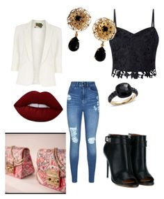 """Untitled #57"" by evelin-pap on Polyvore featuring Lipsy, Jolie Moi, Givenchy, Lime Crime, Dolce&Gabbana and Pomellato"