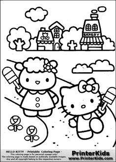 hello kitty popsicle fun coloring page - Printable Popsicle Coloring Pages