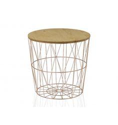 """Tuve un flechazo con esta mesa. Te cuento, la vi en una feria de decoración y pensé """"No puede ser más bonita"""". Provoca una mezcla de sensaciones agradables.  Su forma circular sugiere flexibilidad y dinamismo al tiempo que las formas geométricasdan equilibrio y actualidad. A lo que se une la calidez de la madera superior. Transmite una armonía especial, ¿verdad? EL PRECIO INCLUYE IVA"""