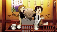 GIF - Dazai, Kunikida, and Atsushi