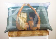Custom Sorority Photo Pillow - Sorority Gift, Bid Day, Big Little Gift , Sorority Initiation, Sorority Pillow, Greek Letters