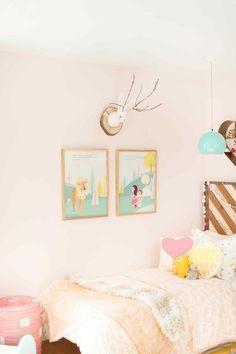 pink shared girls' room