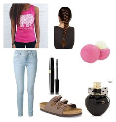 """"""""""" by cmdinthepeg on Polyvore featuring Frame Denim, Birkenstock, Aéropostale and Eos"""