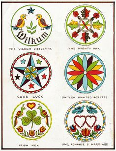 from: hexology: the history and the meaning of the hex signs, published in lancaster county, pa (pennsylvania dutch country) German Folk, Barn Signs, Beast, Bild Tattoos, Barn Quilt Patterns, Barn Art, Decoupage, Scandinavian Folk Art, Scandinavian Pattern