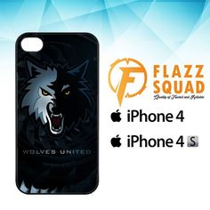 Wolves United Z4159 iPhone 4|4S Case