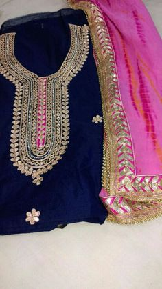 0f53c8966a Gotta Patti work on silk Nice combination get this beautifull out fit  customized  nivetas whatsapp