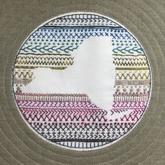 Hand Embroidery For Beginners Image of State Embroidery - These inch state silhouette embroideries are printed on an x piece of Kona Cotton. Printed in a soft grey. The design first perfectly. Embroidery Sampler, Paper Embroidery, Learn Embroidery, Hand Embroidery Stitches, Embroidery For Beginners, Hand Embroidery Designs, Embroidery Techniques, Sewing Techniques, Embroidery Ideas