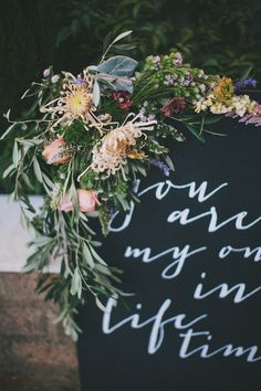 Pretty flower creation by All things Floral Truly & Madly Blog | Truly and Madly Tuscan Styled Shoot at Casale di Terra, Waiheke Island, Auckland, New Zealand #weddingflowers #weddingstyling #weddinginspiration #flowers #floral