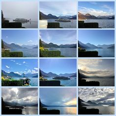 Wolkenformationen mittags im Dezember November, Desktop Screenshot, Mountains, Nature, Travel, Collagen, Sunrise, Tourism, Places