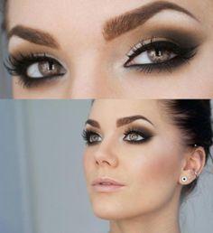 (236×258) Cat Eye, Eye Makeup, Brown Eye, Beautiful, Makeup Ideas, Eyemakeup, Smokey Eye, Hair, Wedding Eye
