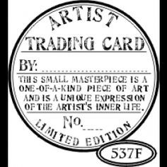 Make your own Artist Trading Card Template for back of ATC