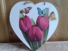 servetten op hout achterkant hart