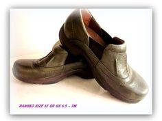 Olive Dansko Clog Shoe Side Stretch Panel 37 or US 7 #Dansko #Clogs #Casual