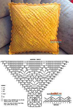 3 moldes para hacer Funda de cojín a crochetConMoldes.com Crochet Pillow, Crochet Granny, Knit Crochet, Crochet Dollies, Chrochet, Jute, Pillow Covers, Applique, Crochet Patterns