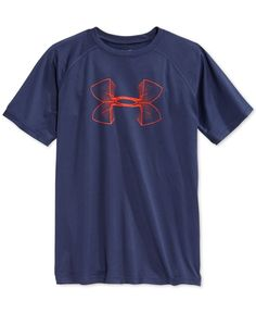 ff25b4116675 Under Armour Boys  Logo-Print Tech Tee Kids - Shirts   Tees - Macy s