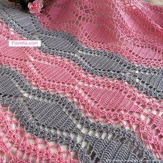 crochelinhasagulhas: Ponto com losangolos em crochê