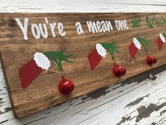 A - Free Ship Canada & USA - Rustic christmas sock stocking hanger - Santa Claus St. Christmas Wood Crafts, Grinch Christmas, Christmas Signs, Rustic Christmas, Christmas Projects, Holiday Crafts, Christmas Holidays, Christmas Sock, Canada Christmas