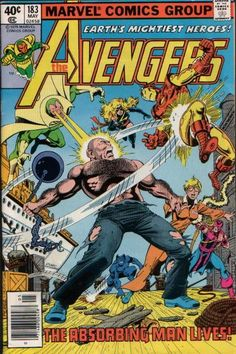 The Avengers #183 (1963 series) - cover by George Pérez