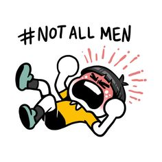 Check out this awesome '%23NotAllMen' design on @TeePublic!