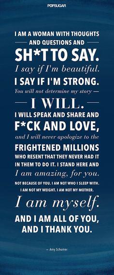 Read, Share, Repeat: Amy Schumer's Kick-Ass Speech