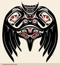 Raven.  Steve Morris. Would make a nice tribal tattoo