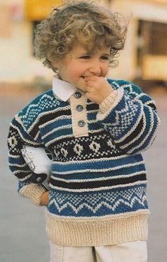Dětský žakárový svetr | KLUB RUČNÍHO PLETENÍ -víc než vzory a návody pro vaše šikovné jehlice