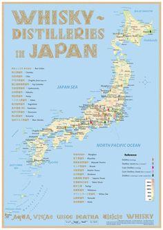 Whisky Distilleries Japan