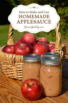A great way to preserve apples when they are in season is to make your own homemade applesauce with no sugar added and can it in a water bath canner. Unlike many canning recipes, apples do not require special ingredients to make them safe for canning. Apples are high in acid and have enough natural sugar to preserve well when canned with a water bath canner.