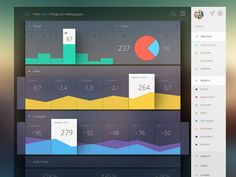 Here are some Amazing Dashboard UI Inspirations - Designs. Creating a creative dashboard design with easy usability(UI) is not an easy task to achieve. Dashboard Ui, Dashboard Design, Dashboard Examples, Dashboard Template, Interface Design, Gui Interface, Games Design, App Design, Report Design