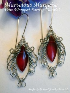 TUTORIAL+Jewelry+Wire+Wrapped+Earrings+par+PerfectlyTwisted+sur+Etsy,+$10.01