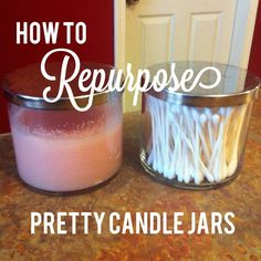 Southern Grace: How to Repurpose Pretty Candle Jars