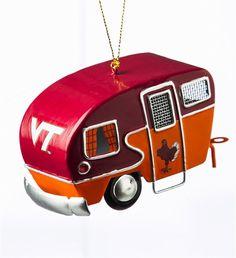 Item # 420022 - Virginia Tech Hokies Camper Christmas Ornament