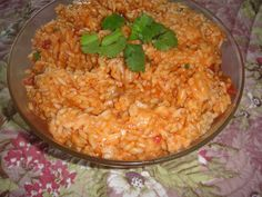 MEXICAN (Spanish) RICE SALAD * Tomatoes * Spices ** serve HOT, COLD or ROOM TEMPERATURE ** Easy *