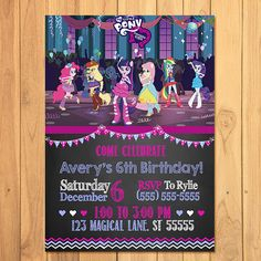 My Little Pony Equestria Girls Invitation by SometimesPie on Etsy