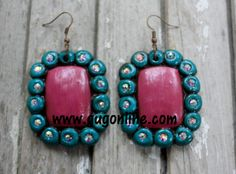 Presidio Purple and Teal Square Earrings $29.95 www.gugonline.com