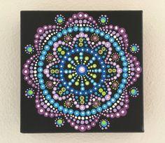 Mandala Artwork, Mandala Painting, Dot Painting, Unique Art, Unique Gifts, Mandala Meditation, Mandala Dots, Sacred Geometry, Dream Catcher