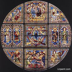 DUCCIO di Buoninsegna Window 1288 Stained-glass, diameter: 700 cm Duomo, Siena Between 1285 and the year the Sienese Maestà was commissioned, documented information exists only on the stained-glass window in Siena Cathedral. Stained Glass Art, Stained Glass Windows, Duccio Di Buoninsegna, Siena Cathedral, Web Gallery Of Art, Painting Gallery, Renaissance Artists, Italian Renaissance, Glass Pumpkins