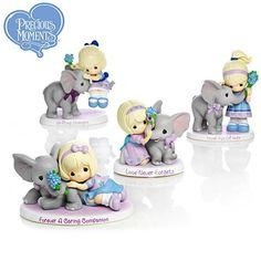 precious moments alzheimer's collection | Precious Moments Parade Of Purple Figurine Collection | Precious ...