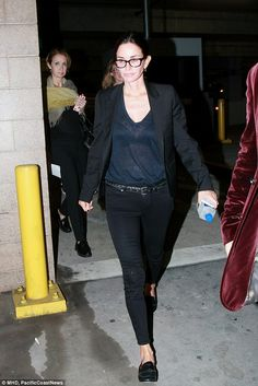 Supportive: Courteney Cox dropped by the premiere of her ex-husband David Arquette's new p...