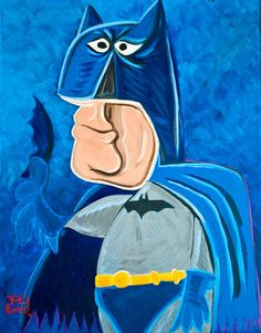 Picasso style super heroes.