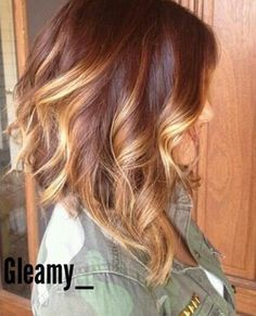 Long Ombre Angled Bob Haircut with Waves Will be doing this hair style in the near future... Keep you guys guessing