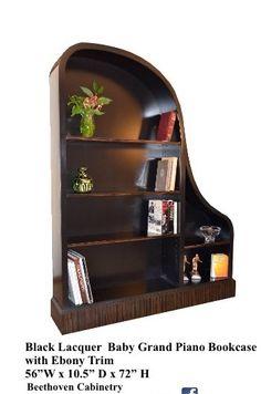 Baby Grand Piano Bookcase