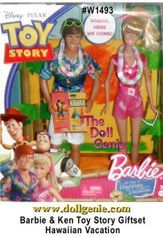 Toy Story 3 Barbie and Ken Dolls Hawaiian Dream Vacation Set is inspired by Toy Story Barbie doll and Ken doll are off on a Hawaiian adventure dream vacation, complete with realistic Toy Story Barbie, Toy Story Dolls, Toy Story 3, Toy Story Party, Jessie Doll, Barbie Cartoon, Barbie Celebrity, Kawaii Room, Wedding Doll
