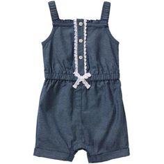 Healthtex Newborn Baby Girl Rompers - Walmart.com Baby Girl Romper, Baby  Girl Newborn