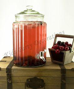 5L Glass Beverage Dispenser w/ Stand Urn Water Drink Server Jar Party Candy Bar